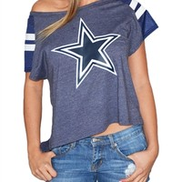 Dallas Cowboys Womens Flowy Dolman Tshirt | SportyThreads.com