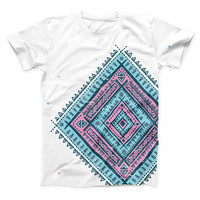 The Aztec Diamond ink-Fuzed Unisex All Over Full-Printed Fitted Tee Shirt