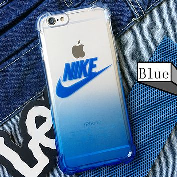 NIKE New Gradient iPhone8 Mobile Shell Color iPhonex 6s7plusnike Softshell Full Coverage