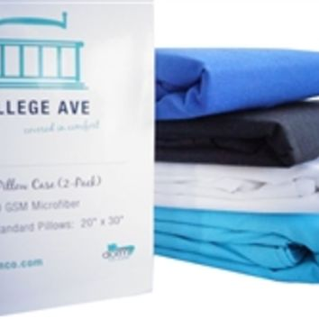 College Ave UltraSoft Pillowcases (Set of 2) Dorm Bedding Stuff College Sleeping Well Pillows