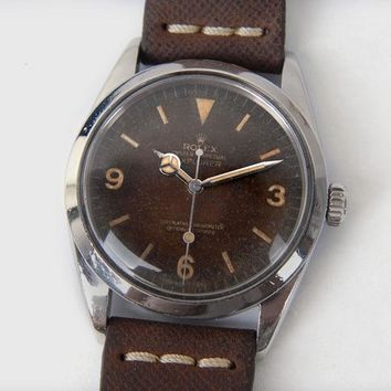 Ex Rolex Explorer 1016 Brown Dial Steel Case Autometic 36mm Mens Wristwatch