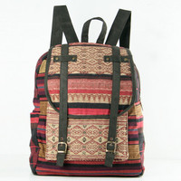 Oriental Tribe Backpack Ethnic Woven Hemp/Cotton Fabric Bohemian, Gypsy Hippie Style