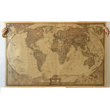 World Map Paper Posters Retro  Vintage Style  Retro in Wall Stickers Home Decoraction  Art Word Map Large  paper posters PP-22