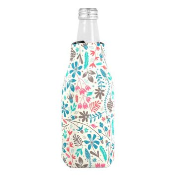 Retro Floral Pattern Bottle Cooler