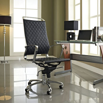 VIBE HIGHBACK OFFICE CHAIR IN BLACK