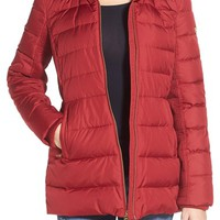 MICHAEL Michael Kors Hooded Down & Feather Fill Coat with Faux Fur Trim (Regular & Petite) | Nordstrom