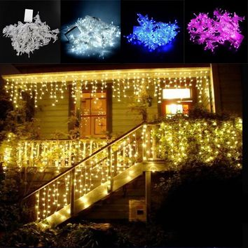 RAYWYA 3.8Mx3M 300led light christmas decorations leds icicle led curtain string fairy light  220V Wedding home garden party Dec