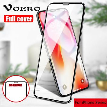 3D Aluminum alloy Full Tempered glass For iPhone X 6 6S 8 7 Plus 5 5S SE Screen Protector For iPhone 7 7 Plus X Protective Film