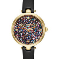 kate spade new york Women's Holland Black Leather Strap Watch 34mm KSW1212 - Watches - Jewelry & Watches - Macy's