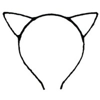 Cute Sexy Womens Attractive Vivid Color Cat Ear HeadBand Hair Band Black