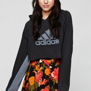 Retro Gold Vintage Cropped Adidas Hoodie at PacSun.com