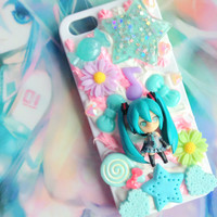 Kawaii Vocaloid - Hatsune Miku - decoden phone case - iphone 5/5s and ipod touch 5g