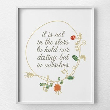 Shakespeare Quote, Shakespeare Print, Inspirational Print, Motivational Quote, Motivational Print, Typographic Print, Inspirational Art