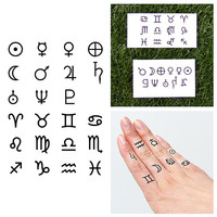 Reach for the Stars - Temporary Tattoo (Set of 23)