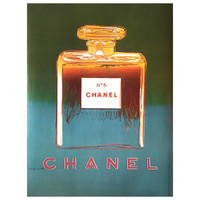 Andy Warhol for Chanel No 5, Large Size French Poster in Green and Blue