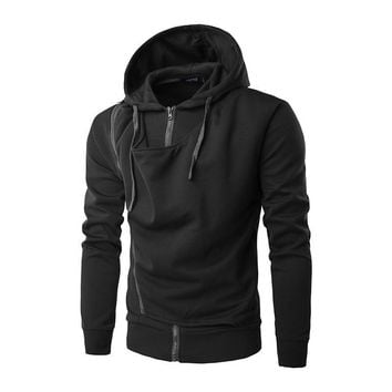 Zippers Hoodies Men Winter Strong Character Stylish Men's Fashion Hats [10669394179]