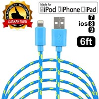 NEW MFI Apple iPhone 6s 6 plus 5s SE 2m / 6ft Charger Lightning USB Data Cable