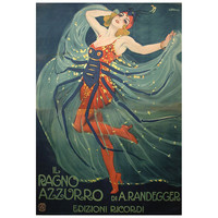 Rare Original Antique Italian Poster by Metlicovitz, 1912