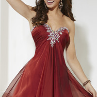 Strapless Sweetheart Homecoming Dress by House of Wu