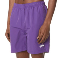 Stussy new fashion casual pants couple sports men and women shorts Purple