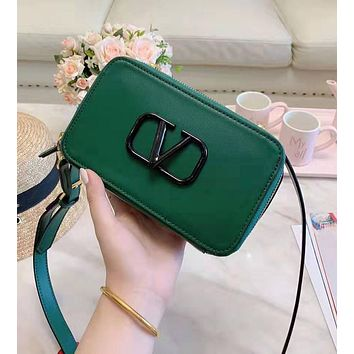 Valentino High Quality Fashion Women Leather Satchel Shoulder Bag Crossbody Green
