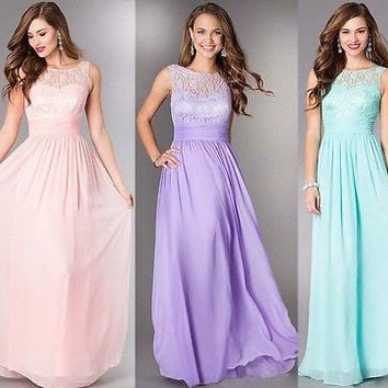 Sexy Women's Prom Ball Evening Party Formal Gown Long