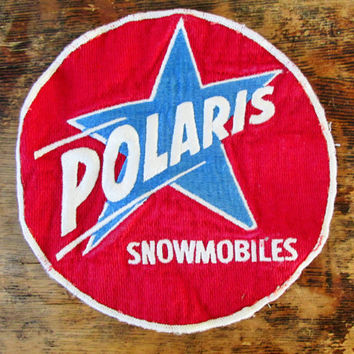 Vintage 1960s Large Polaris Snowmobiles Patch