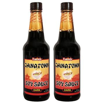 Eaton's Chinatown Soy Sauce (Dark) 10oz (Pack of 2)