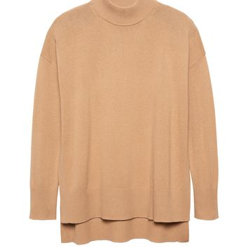 Machine-Washable Wool-Cashmere Sweater Tunic | Banana Republic
