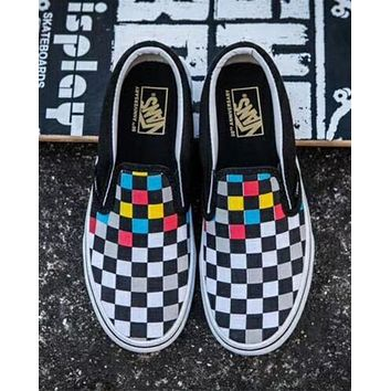 Vans trendy canvas tartan sneakers F