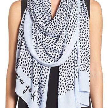 kate spade new york spotted oblong scarf | Nordstrom