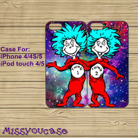 iphone 5C case,iphone 5S case,iphone 5S cases,iphone 5C cover,cute iphone 5S case,cool iphone 5S case--Thing 1 and thing 2,in plastic.