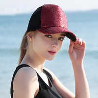 Baseball Hat Lady Fashion sequined Hat Visor sun hat hip-hop lovers peaked cap