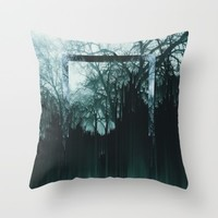 Tree Lines Throw Pillow by Ducky B