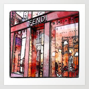 pencil store window  Art Print by Jessica Ivy