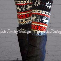 Fleece Snowflake Leggings