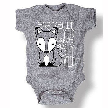 Newborn Foxes Kids Baby Boy Girl Cotton Romper Jumpsuit Outfit Clothes newborn clothing baby jumpsuits baby rompers