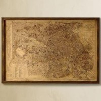 Vintage Paris Map | Maps | Restoration Hardware