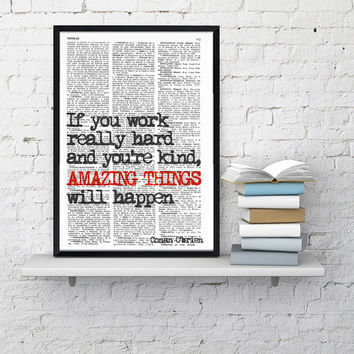 INSPIRATIONAL Quote Print, Boyfriend Gift , Boy Gift, MOTIVATIONAL Wall Decor, College Dorm Poster print - house wall art - Poster print
