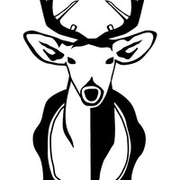 Deer Head Decal
