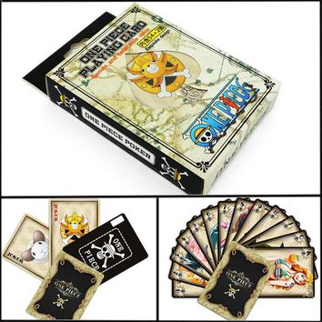Cool Attack on Titan Anime Playing Cards From Japanese Anime TOKYO GHOUL LOL Action Figure ONE PIECE  Anime Toy Poker AT_90_11