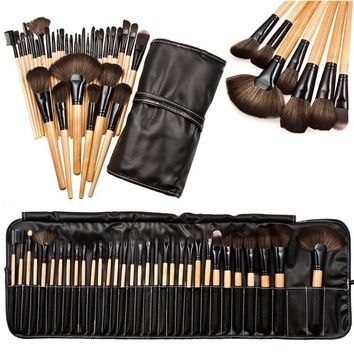 32pcs Professional Makeup Brush Tool Set with case