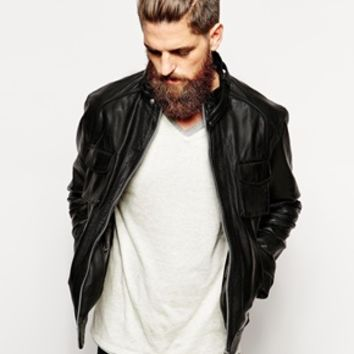 Barney's Leather Jacket - Black