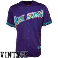 Majestic Arizona Diamondbacks Cooperstown Throwback Jersey - Purple