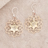 Heart Chakra Copper Brass Earrings