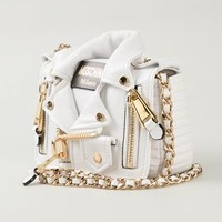 Moschino Smakker Biker Shoulder Bag - Elite - Farfetch.com