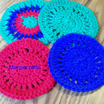 Drink Coasters, Handmade Coasters, Crochet Coasters, Round Coasters, Placemat, Drinkmat