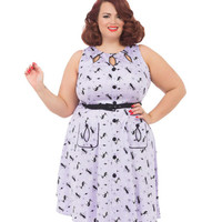 Voodoo Vixen Retro Kitties Keyhole Swing Dress Plus Size
