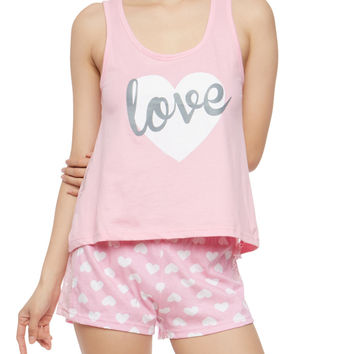 Love Graphic Pajama Set