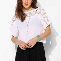 Staring At Stars Crochet-Neckline Cropped Top-